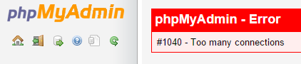 phpmyadmin-too-many-connection
